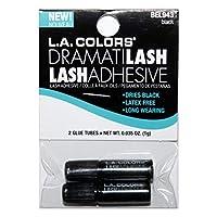 洛杉矶 颜色 (1) 包 DramatiLash 黑色睫毛胶 - 干得黑色,不含乳胶,长时间佩戴 - 2 件瓶装 BE943