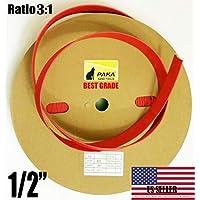 1.27cm 双壁红色热缩管 3:1 粘胶胶内衬管 (274.32cm)