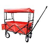Bieco 22000116 折叠手推车带雨罩,90 x 53 x 64 厘米,红色