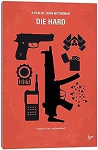 "iCanvasART Die Hard Minimal 电影海报油画印刷品,101.6 x 1.9 x 66.04 厘米 26"" x 18"" CKG11-1PC3-26x18"
