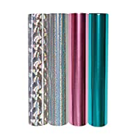 Spellbinders GLF-012 4 金属和全息组合包 Glimmer 热烫铝箔卷 多种颜色