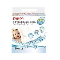 PIGEON 贝亲 婴儿 柔湿巾80片3连包KA36*3 PL135 (新老包装更替 随机发货)