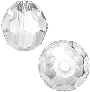 SWA2Rovski 圆形水晶珠耳环手镯脚链项链钥匙链吊坠首饰制作配件用品 水晶透明 8mm