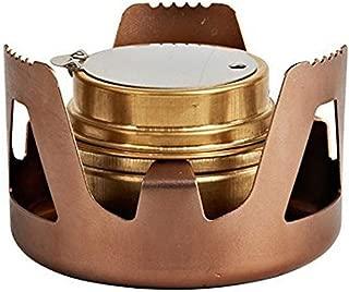 Dinoka) 酒精炉 酒精炉 户外炉 小型 紧凑 轻量 户外 露营 防灾 登山 料理用 合金 迷你 炉 支架 棕色