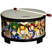 Remo RH-5010-00 节奏俱乐部地板汤姆鼓-节奏学习玩具,10英寸/25厘米