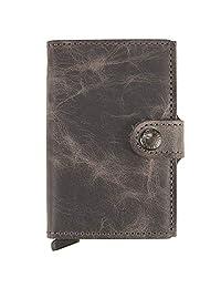 Secrid 男士迷你钱包真皮复古黑色 RFID *卡盒 *大 12 张卡