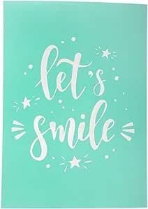 West Coast Paracord 自粘丝网转移 - DIY 项目 - 服装、家居装饰、教室等模板 - 可重复使用和可洗 Let's Smile SLKSCRNSTKR-LETSSMILE-~WCP_AK