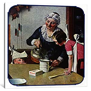 """iCanvasART 1 Piece """"Its So Simple"""" Canvas Print by Norman Rockwell, 37 x 37""""/0.75"""" Deep"""