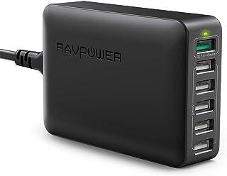 RAVPower 6-Port QC 3.0 USB 台式 蓄电池充电器DE RP-PC029(B)
