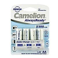 Camelion 飞狮 AlwaysReady系列低自放电5号镍氢充电电池 2300mAh*4节卡装
