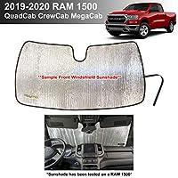 YelloPro 定制汽车反光挡风玻璃遮阳配件紫外线反射器适用于 2019 2020 Dodge RAM 1500 Tradesman,大角独星,Laramie Longhorn Sport Rebel 限量版 QuadCab CrewCab