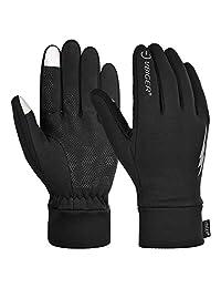 Vbiger 男士冬季保暖手套触屏手套防滑运动手套带抓绒内衬