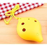 TNG 6 孔 Alto C 塑料 Ocarina,黄色,适合儿童学习,教师教学
