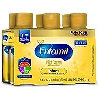 Enfamil 美赞臣 优质非转基因婴儿即饮配方奶 0-12个月婴儿适用, 8 oz (237ml)/瓶 (6瓶装)
