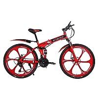 ALTRUISM X9山地自行车21速折叠学生自行车26寸双碟刹男士越野减震单车