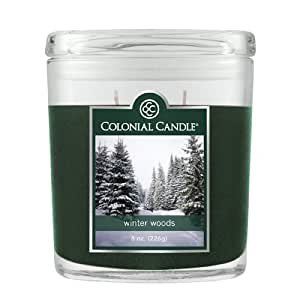 Colonial Candle 226.8 克香味椭圆罐蜡烛 绿色 4 1/4 X 2 1/4 X 5 CC008.706