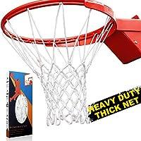优质专业重型篮球网更换件 - 全天候防雨鞭,适合标准室内或室外 12 环环 12 环