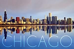"""芝加哥,伊利诺伊州 - 天际线 """"Multi"""" 9 x 12 Art Print LANT-52639-9x12"""