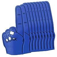 eBuyGB 尖头大号泡沫手指指针 EVA 动画手掌适用于足球节日音乐会 体育活动 - 适合印刷,男式 Adult Pack of 10 蓝色