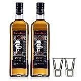乌克兰原瓶原装进口洋酒 阿尔卡彭调配威士忌40度烈酒700ml *2 送2洋酒酒杯