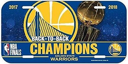 WinCraft NBA 金州勇士隊 2018 籃球冠軍牌牌照,15.24 x 30.48 厘米