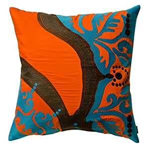 Koko 公司 18 英寸。 Coptic Square 枕头 - 橙色 橙色 18 by 18-Inch 91913