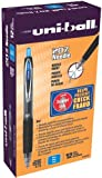 uni-ball 207 Retractable Gel Pens, Needle Point, Blue Ink, Pack of 12