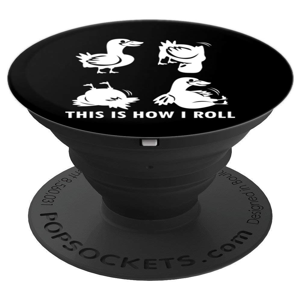 This Is How I Roll Clothes Somersaults 儿童礼物 Duck PopSockets 手机和平板电脑握架260027  黑色