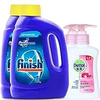 finish 洗碗机专用洗涤粉剂1kg*2(进口)+Dettol 滴露 洗手液滋润倍护125g*2(亚马逊自营商品, 由供应商配送)
