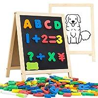 INNOCHEER 儿童磁性字母和数字板 - 133 块教育字母冰箱磁铁用于学习书写绘图双面白板儿童*