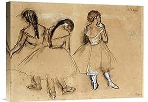 "Art on a Budget GCS-264815-22-142 ""Edgar Degas Three Dancers"" Gallery Wrap Giclee on Canvas Print Wall Art"