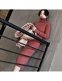 欧美新品羊绒衫女高领加厚毛衣中长款慵懒宽松针织打底衫
