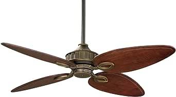 Fanimation LB250VZ Bayhill Ceiling Fan, Venetian Bronze Finish, 5 Cairo Purple Blades
