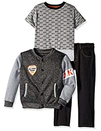 DKNY 男孩 Little York Avenue 羊毛外套,T 恤和牛仔布
