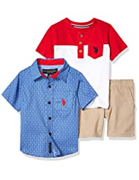 U.S. Polo Assn. 男童短裤套装