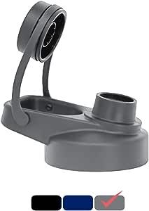 MIRA 喷嘴盖适用于广口水瓶 – 多种尺寸:18 盎司、20 盎司、22 盎司、32 盎司和 40 盎司 灰色 WB-HTC-LID