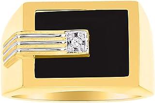 RYLOS 设计师戒指镶嵌玛瑙、石英或虎眼镶嵌黄金镀银 925