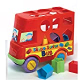 Fun Time 形状分类玩具巴士 1 Year + L 24cm x W 10cm x H 19cm 红色