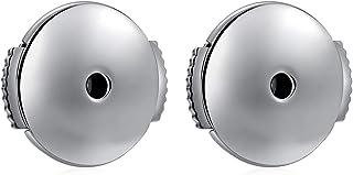 ZDaoBen 白金镀金耳环背部替换 925 纯银*耳环背部锁定耳环背部防**耳环背部适用于各种耳钉 1 对 10mmx1mm E222-onepair