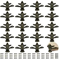 PGMJ 20 件复古设计装饰木盒腿,珠宝盒腿五金件用于复古木盒、橱柜、礼品盒、工具盒、珠宝盒、酒盒