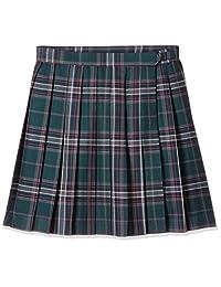 [防水] *・防臭加工 长度可选格子花纹百褶裙(学校・制服) TN-438 女士