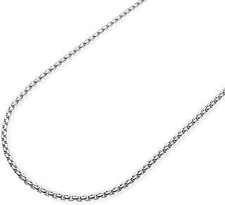 Pori Jewelers 10K 黄金 1.8 毫米、2.5 毫米或 3.5 毫米圆盒项链 - 多种长度可选 - 黄色或白色