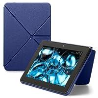 """亚马逊Kindle Fire HDX折叠式真皮保护套(仅适用于老款Kindle Fire HDX 8.9""""), 墨水蓝"""
