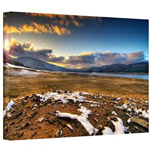 Art Wall Dragos Dumitrascu The Winter Sun Gallery Flat Wrapped Canvas Art, 16 by 24-Inch