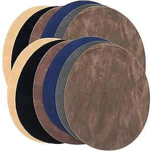 Rusoji 12 支装 DIY 熨烫补丁修补套装,6 种颜色可选,适用于牛仔、夹克、肘部、护膝