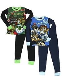 LEGO 男童吉马传奇紧身棉 4 件套睡衣套装 蓝色/绿色 4