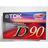 TDK D90 Dynamic Performance 空白盒式磁带,7 件装
