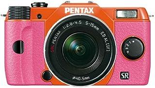 Pentax Q10 小型系统摄像头带 5-15mm 镜头套件 (12MP) 3.0 英寸 LCD - PARENT ASIN12529 粉色握把 橙色身体