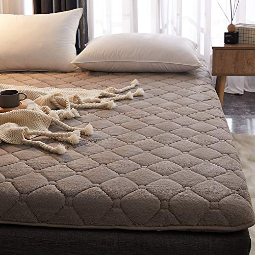 宝被 兔绒床垫子1.5m软加厚床褥子1.8床2米双人学生宿舍海绵榻榻米垫被 灰色 180x200cm-加厚兔兔绒6cm床垫