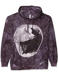 The Mountain Men's Yin Yang Wolves Hoodie Hooded Sweatshirt Black